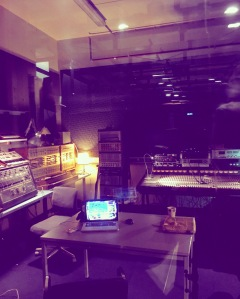 The synth-heaven that is the music studio at WORM